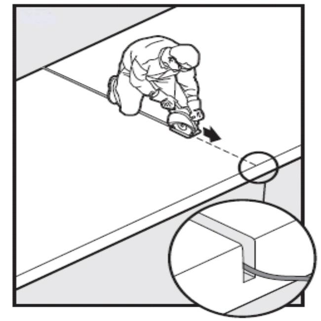 Robotniiduki piirdekaabli paigaldamine tee alla